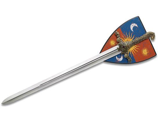 Valyrian Steel Game of Thrones Oathkeeper Sword w/ Wooden Display Plaque