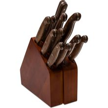 V Nives Diafire Gourmet Classic 12 Piece Block Set, Walnut Handles