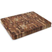 Wusthof Large Rectangle Acacia End-Grain Chopping Block / Cutting Board 19 inch x 15 inch x 1.75 inch