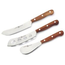 Wusthof 3 Piece Charcuterie Knife Set with Plum Wood Handles