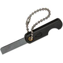 Wazoo Survival Gear Mini Ceramic Folding Knife 1.1 inch Black Ceramic Razor Blade, Black Synthetic Handle