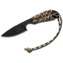 White River Knives Backpacker Fixed 3.25 inch S30V Black ionbond Blade, Camo Paracord Handle, Kydex Sheath