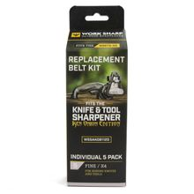 Work Sharp White X4 Fine 3000 Grit Replacement Belt Kit for WSKTS-KO Ken Onion Edition, 5 Pack