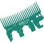 Zootility Tools Headgehog 3.25 inch x 2 inch Stainless Steel Utility Tool, Teal
