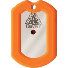 The Original Dog Tag Knife Survival Tool Kit, 440C Blade, Orange Rubber Frame
