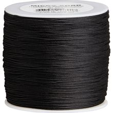 550 Micro Cord, Black, Nylon Braided, 1000 Feet x 1.12 mm