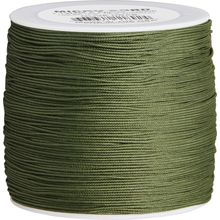 550 Micro Cord, OD Green, Nylon Braided, 1000 Feet x 1.12 mm