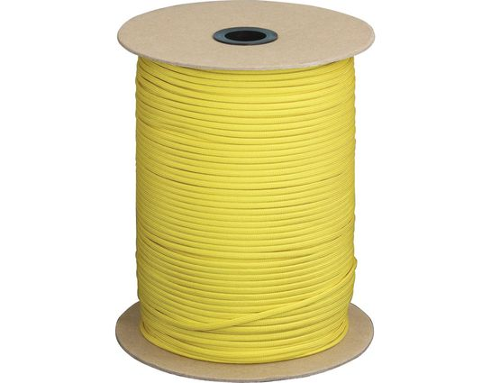 550 Paracord, Yellow, 1000 Feet Roll