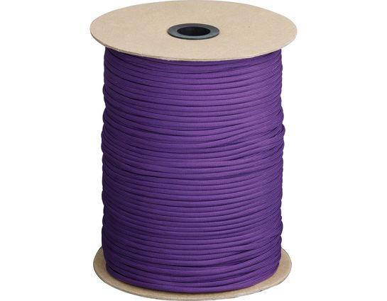 550 Paracord, Purple, 1000 Feet Roll
