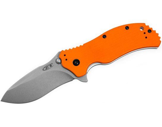 Zero Tolerance Model 0350OR Assisted 3-1/4 inch S30V Plain Blade, Orange G10 Handles