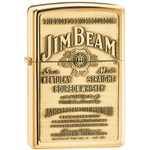 Zippo Jim Beam Brass Emblem, High Polish Brass Classic