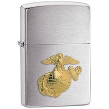 Zippo® Brushed Chrome, Marines Emblem