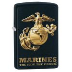 Zippo US Marine Corps,  inchThe Few, The Proud inch, Matte Black