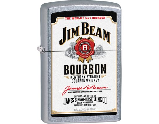 Zippo Jim Beam White Label, Street Chrome Classic