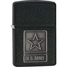 Zippo US Army Pewter Emblem, 1941 Black Crackle Classic