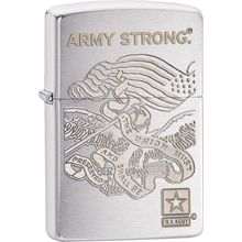 Zippo US Army, Brushed Chrome Classic