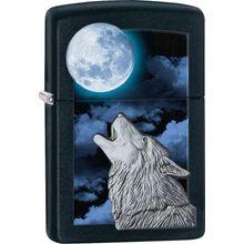 Zippo Howling Wolf, Black Matte Classic