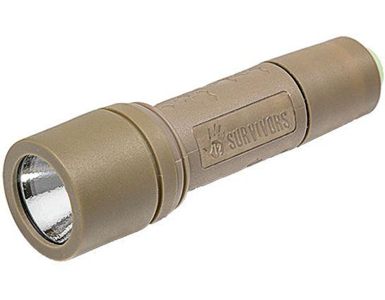 12 Survivors GeoSpark LED Flashlight 1xAA, 150 Max Lumens