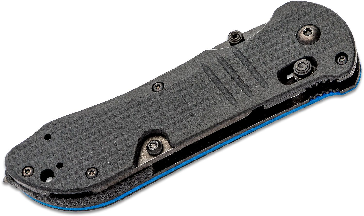 Benchmade Thin Blue Line Tactical Triage shown closed left profile