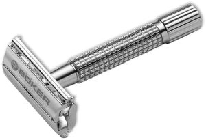Boker Butterfly Safety Razor, Chrome, Made in Germany