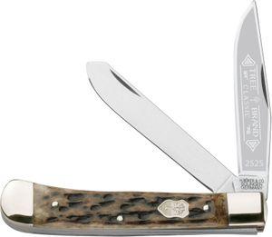 Boker Appaloosa Trapper Pocket Knife 4.25 inch Closed, Bone Handles