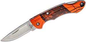 Buck 283 Nano Bantam Folding Knife 1.875 inch Plain Satin Blade, Mossy Oak Blaze Handles