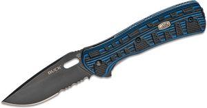 Buck 847 Vantage Force Pro Folding Knife 3.25 inch S30V Combo Blade, Black/Blue G10 Handles