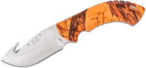 Buck 393 Omni Hunter 12PT 4 inch Fixed Blade, Gut Hook, Mossy Oak Blaze Camo Handles
