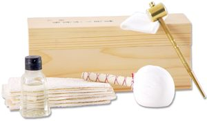 CAS Hanwei Samurai Sword Maintenance Kit, All Traditional Items Included, Attractive Wooden Box