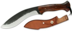 Citadel KC4009 Kukri Fixed 8-1/4 inch DNH7 Blade, Palisander Wood Handles