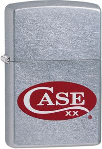 Case Zippo Lighter, Red Case Logo