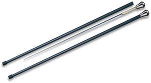 Cold Steel 88SCFA Aluminum Head Sword Cane, 37.625 inch Overall, Carbon Fiber Shaft