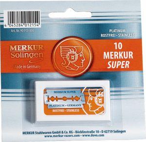 Merkur Double Edge Razor Blades 30 Pack (3 Packs of 10 Blades Each)