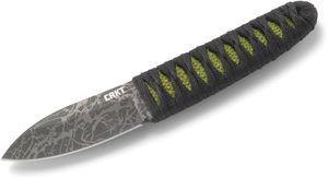 Columbia River CRKT 2480 Lucas Burnley Akari Fixed 2.83 inch Upswept Plain Blade, Cord Wrapped Handle, Molded Sheath