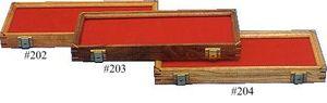 Walnut Wood Display Case 7 inch x 18 inch x 1.875 inch