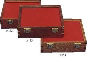 Cherry Wood Display Case 9.5 inch x 12 inch x 3.875 inch