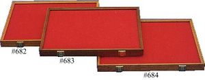 Cherry Wood Hinged Display Case 18 inch x 24 inch x 1.875 inch