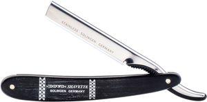 DOVO Shavette Replaceable Blade Straight Razor, Ebony Handles