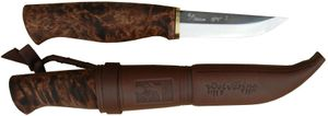 Kellam Knives Finnish Wolverine Pro Fixed 3 inch SPT Carbon Steel Blade, Birch Wood Handle