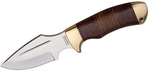 Down Under Knives Bushmate 4 inch Polished Blade, Leather Handle