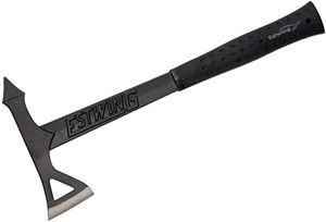Estwing Black Eagle Tomahawk Axe, Black Rubber Handle, Black Nylon Sheath