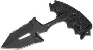 Extrema Ratio SERE 2 GOI Push Dagger 5.83 inch Black Combo Tanto Double Edge Blade, Black Forprene Handle, Black Kydex Sheath