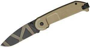 Extrema Ratio BF2 Desert Warfare Folder 3.23 inch Plain N690 Blade, Tan Aluminum Handles