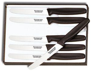 Victorinox Forschner 6 Piece Steak Knife Set, 4-1/4 inch Serrated Blades, Nylon Handles