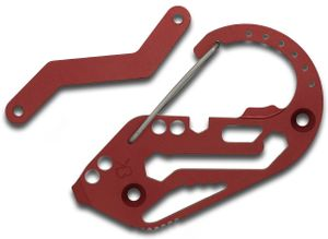 Fortius Arms Red Aluminum KeyBiner Carabiner Key Retention System