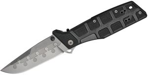 Fox N.E.R.O. Nighthawk Folding 3-3/4 inch Plain Titanium/N690Co Composite Blade, G10 Handles