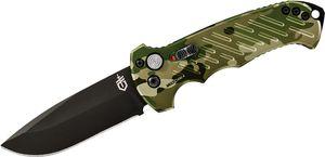 Gerber 06 AUTO Folding Knife 3.8 inch S30V Black Plain Drop Point Blade, MultiCam Aluminum Handles