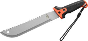 Gerber Compact Clearpath Sawback Machete 11 inch Blade, Orange/Black GatorGrip Handle, Black Nylon Sheath