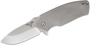 Gingrich Tactical Innovations GTI Delta Lock Flipper Knife 3.25 inch Satin BD1 Blade, Titanium Handles