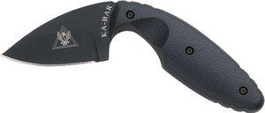 KA-BAR 1480 TDI Law Enforcement Knife 2-5/16 inch Black Plain Blade, Zytel Handles